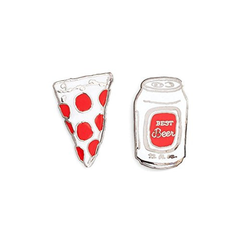 Ban.Do Flair Pin Set Beer &Amp; Pizza Headband