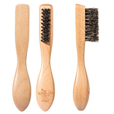 Bfwood Beard Brush - Ergonomic Design With Unique Taper Bristle And Large Handle, For All Beard Hair