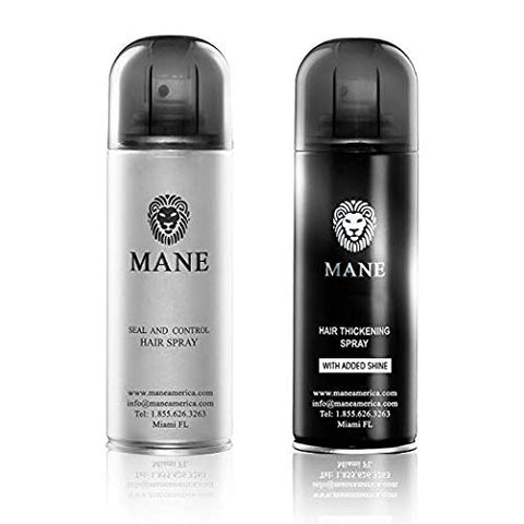 Mane Usa Hair Thickener Spray Combo (200Ml) (Jet Black)