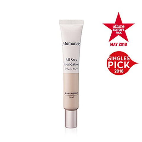 Mamonde All Stay Foundation Spf25 Pa++ 20Ml, 23N Sand