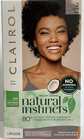 Nat 36 Midnight Size Kit Clairol Natural Instincts Black Color Treatment #36