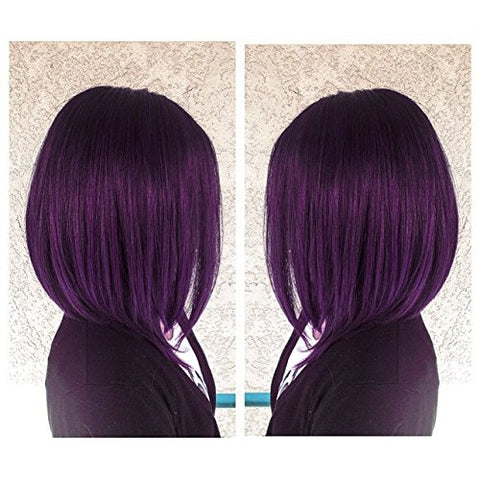 Nyuwa Kanekalon Synthetic Colorful Daily Party Soft Short Bob Lace Wigs 250D 12  For Women Natural As Real Hair Lace Front Wig,Elastic Straps Bl950#