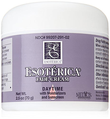 Esoterica Fade Cream Daytime With Moisturizers And Sunscreen, One 2.5 Ounce Jar, Works To Rejuvenate And Replenish Your Skin