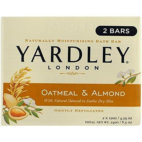 Yardley Bar Soap, Oatmeal And Almond, 20 Count