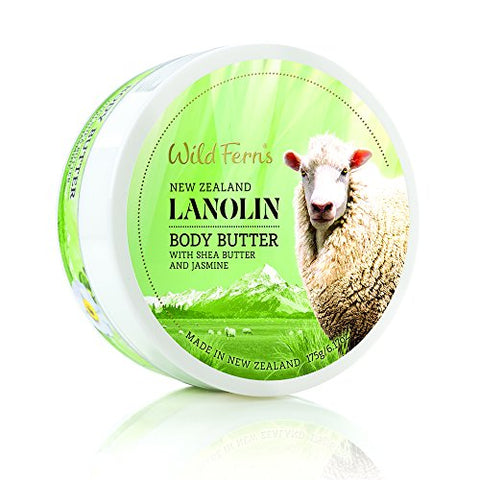 Wild Ferns Lanolin Body Butter With Shea Butter And Jasmine