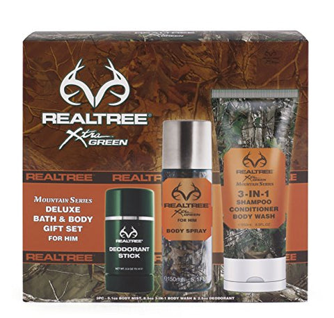 Realtree Mountain Series Bath &Amp; Body Gift Set, Men