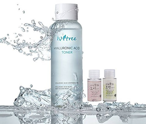 Isntree Hyaluronic Acid Toner 13.53 Fl.Oz. | With Whamisa Essence Toner &Amp; Lotion 20Ml | Deep Moisturizing, Soothing, Nourishing