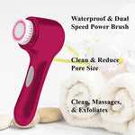 Vivitar Full Body Cleansing Kit: Premium Set Of Lighted Eyebrow Tweezers + Facial Cleanser Brush + Cordless Foot File| Complete Beauty Care Kit For Home Or Professional Use|Top Gifting Idea Beauty Kit