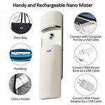 Nano Handy Mist Spray Atomization Rechargeable Facial Mister Nano Mister For Eyelash Extensions Mist (White)