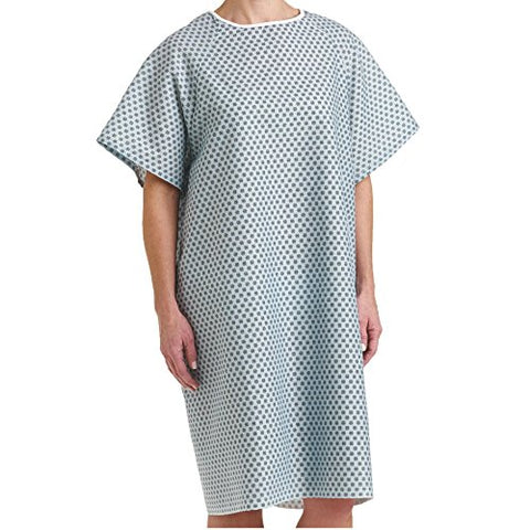 Bella Kline Double Tie Back,Hospital Patient Unisex Gown, 3Pk