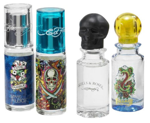 Ed Hardy Variety For Men By Christian Audigier 4 Pc. Mini Gift Set