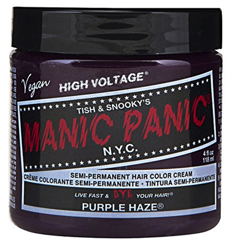 Manic Panic Semi-Permament Haircolor Purple Haze 4 Ounce Jar (118Ml)