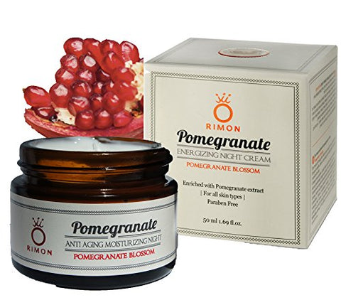 Pomegranate Seed Oil Anti Aging Moisturizing Night Cream By Rimon 50 Ml/1.69 Fl Oz