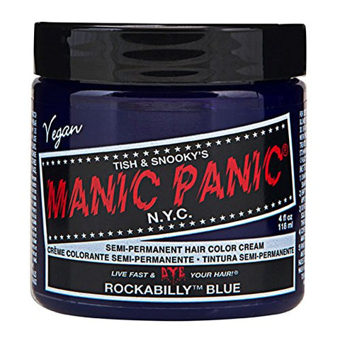 Mypartyshirt Rockabilly Blue Manic Panic 4 Oz Hair Dye