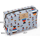 Cute Travel Makeup Pouch Cartoon Printed Toiletry Cosmetic Bag For Girls, Women (Fox)
