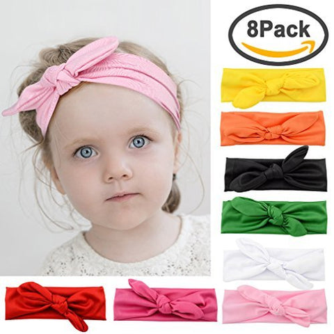 Tobatoba Baby Headbands Girl'S Turban Knotted Elastic Hairbands For Newborn Toddler And Childrens