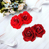 Wbcbec Rose Flower Hair Clip Women Rose Flower Hair Accessories Wedding Hair Clip Flamenco Dancer