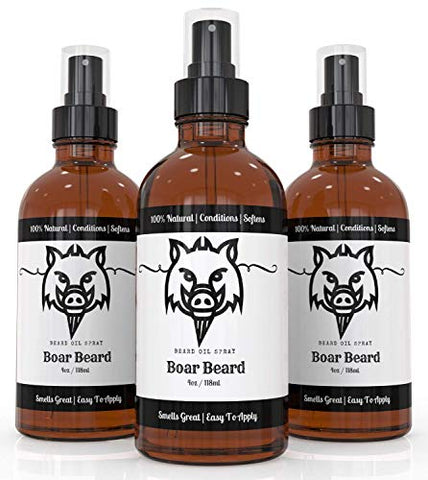 Beard Oil By Boar Beard - Spray Beard Oil For Men - Beard Oil And Balm Replacement - Easy To Apply - The Perfect Beard Oil Kit Addition - Beard Oil Scented &Amp; Unscented (Cedar, 1 Pack)
