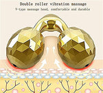 Beauty Bar 24K Golden Pulse Facial Massager,Electric Sonic Depuffer 3D Roller Skin Care Massage Firming Tool For Sensitive Skin Anti-Wrinkles And Lifting