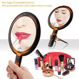 Beautifive Double Sided Makeup Mirror, Bathroom Vanity Mirror With 1X/7X, Compact Hand Mirror And Tabletop Magnifying Mirror With Stand, Cosmetic Mirror For Travel, Amber Color
