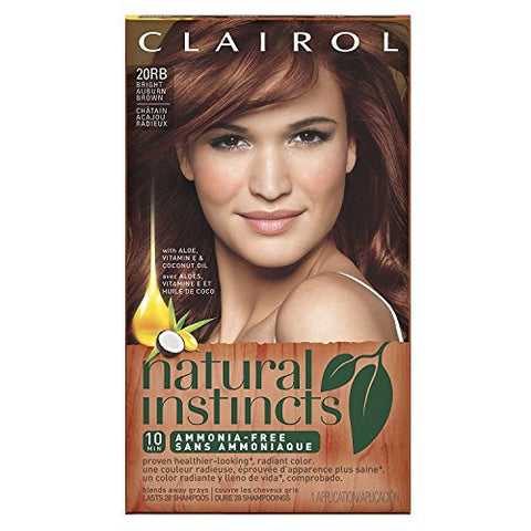 Clairol Natural Instincts Hair Color, Bright Auburn Brown 12 (20Rb),