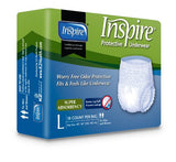 Inspire Adult Diaper Incontinence Underwear, Large, 18 Count