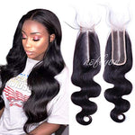 2X6 Deep Middle Part Lace Closure Human Hair Body Wave Brazilian Pre Plucked Lace Frontal Closure For Women Natural Color 20 Inch