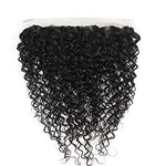 Lovbite 13X4 Human Hair Lace Frontal Closure 14Inch Brazilian Water Wave Closure Lace Frontal Ear To Ear Free Part Natural Color (13X4 14Inch)