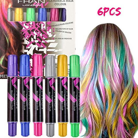 Hair Chalk, Temporary Hair Chalk Pens Non-Toxic Hair Color Set, Metallic Glitter Washable Hair Paint For Kids/Boys/Girls/Party/Cosplay/Halloween/Christmas/Birthday Gift