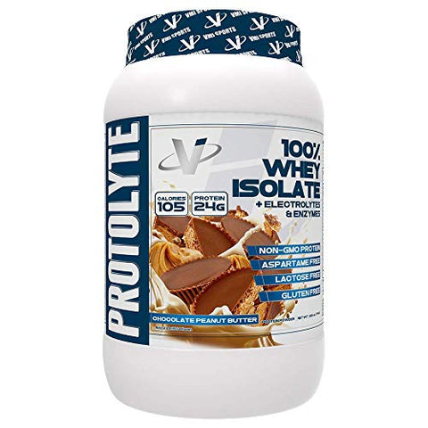 Vmi Sports Protolyte 100% Whey Isolate Protein Powder Chocolate Peanut Butter Zero Sugar With Added Electrolytes &Amp; Enzymes 1.6Lb