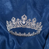 Eseres Women Tiaras And Crowns Full Round Birthday Crown Pageant Crown