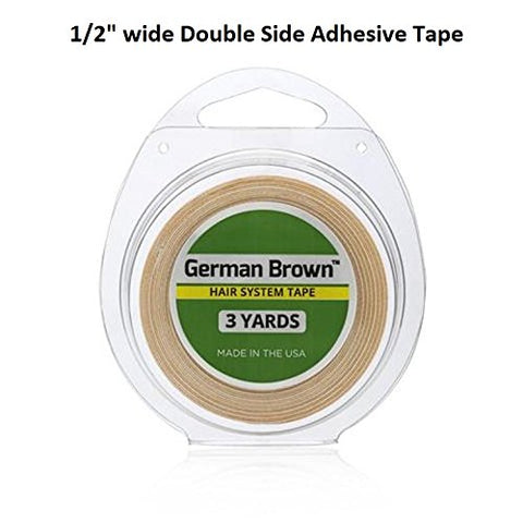 German Brown Liner Cloth Tape 1/2  X 3 Yards Double Side Adhesive