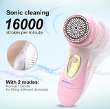 Sonicety Electric Facial &Amp; Body Cleansing Brush Hi-701 (Pink)