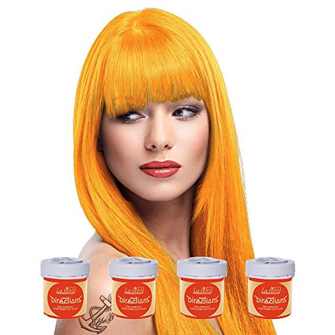 4 X La Riche Directions Semi-Perm Hair Colour Apricot (All Colours Avail) 4X 88Ml