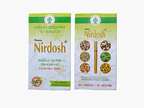 Nirdosh Herbal Cigarette Made With Ayurvedic Herbs