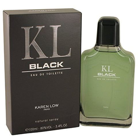 Kl Black By Karen Low 3.3 / 3.4 Oz 100 Ml Edt Cologne Spray For Men * Original Retail Packaging