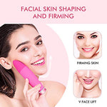 Electronic Facial Brush Cleaner - Waterproof Ipx7 Dual Facial Cleaning Skin Friendly Silicone Brush Massager 15 Speeds Constant Temperature 48 For Deep Pore Cleansing Gentle Exfoliating Face Care
