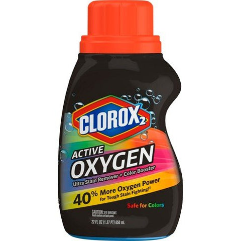 Clorox2 Active Oxygen Ultra Stain Remover + Color Booster, 22 Fl Oz