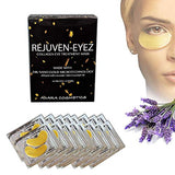 Rejuven-Eyez - Premium 24K Gold Collagen Under Eye Mask Infused Lavender Essential Oil, Under Eye Dark Circles, Under Eye Bags Treatment, Eye Puffiness
