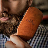 Zilberhaar Major - Hair &Amp; Beard Brush - Natural Boar Bristles And Pear Wood - All Beard And Hair Types - Best For Medium To Thick, Long Beards - A Must-Have Grooming Tool For Men Who Like It Big