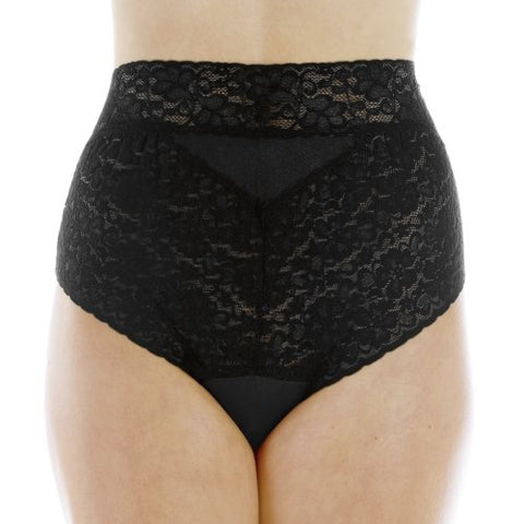 Women'S Black Lovely Lace Trim Incontinence Panties Large (Single)