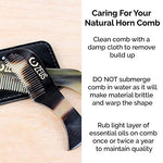 Zeus Natural Horn Mustache Comb In Leather Sheath - 76Mm - Real Natural Horn Moustache Comb For Men!