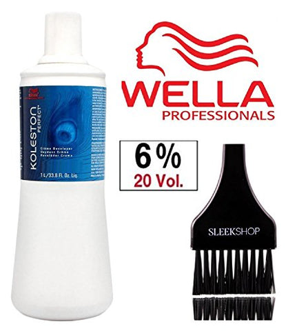 Wella Koleston Perfect Cream Developer (With Sleek Tint Brush) (20 Volume/6% - 33.8 Oz Liter)