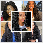 Brazilian Water Wave 3 Bundles With Lace Frontal 134 Ear To Ear 8A Wet And Wavy Virgin Human Hair Weave Bundles With Frontal Closure (12 14 16 With Frontal 10)