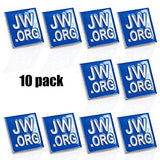Jehovah Witness - Square Blue Lapel Pin - Jw.Org Neck Tie Hat Tack Clip Women Or Men Suits-Silver Square-10 Pcs