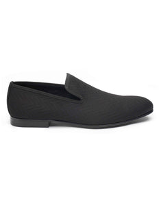 Black Slipper Loafer-HBDAR012