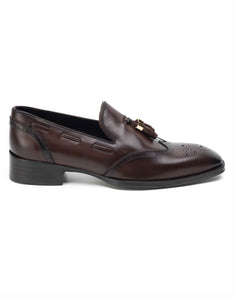 Brown Tassel Loafers-HBSDAR004