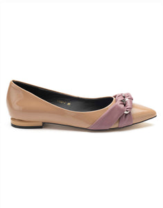 Rose Quartz Ballerina with Knotted Bow-R122-7