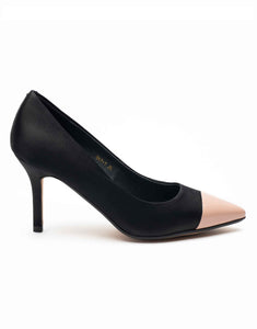 Black & Sand Two-Tone Pump-R47-1