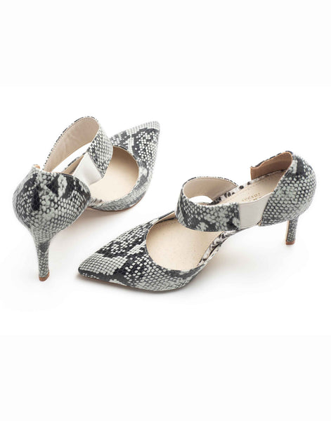 Black & White Mosaic High Vamp Stiletto-A8181-59